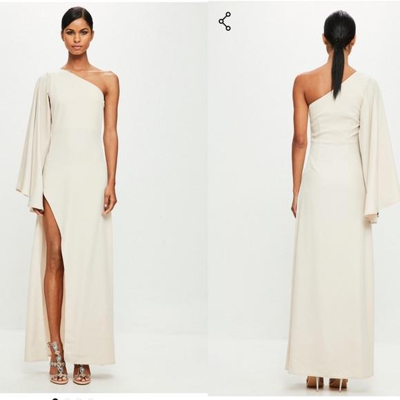 5832b9edc77 Missguided Dresses | Peace Love Nude One Shoulder Maxi Dress | Poshmark